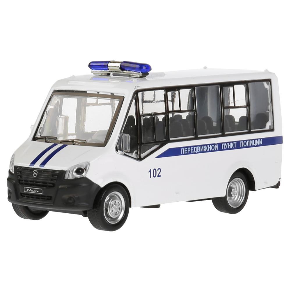 Купить Газель Next Citiline Полиция, 15 см, открываются двери, инерционный механизм, свет и звук, Технопарк