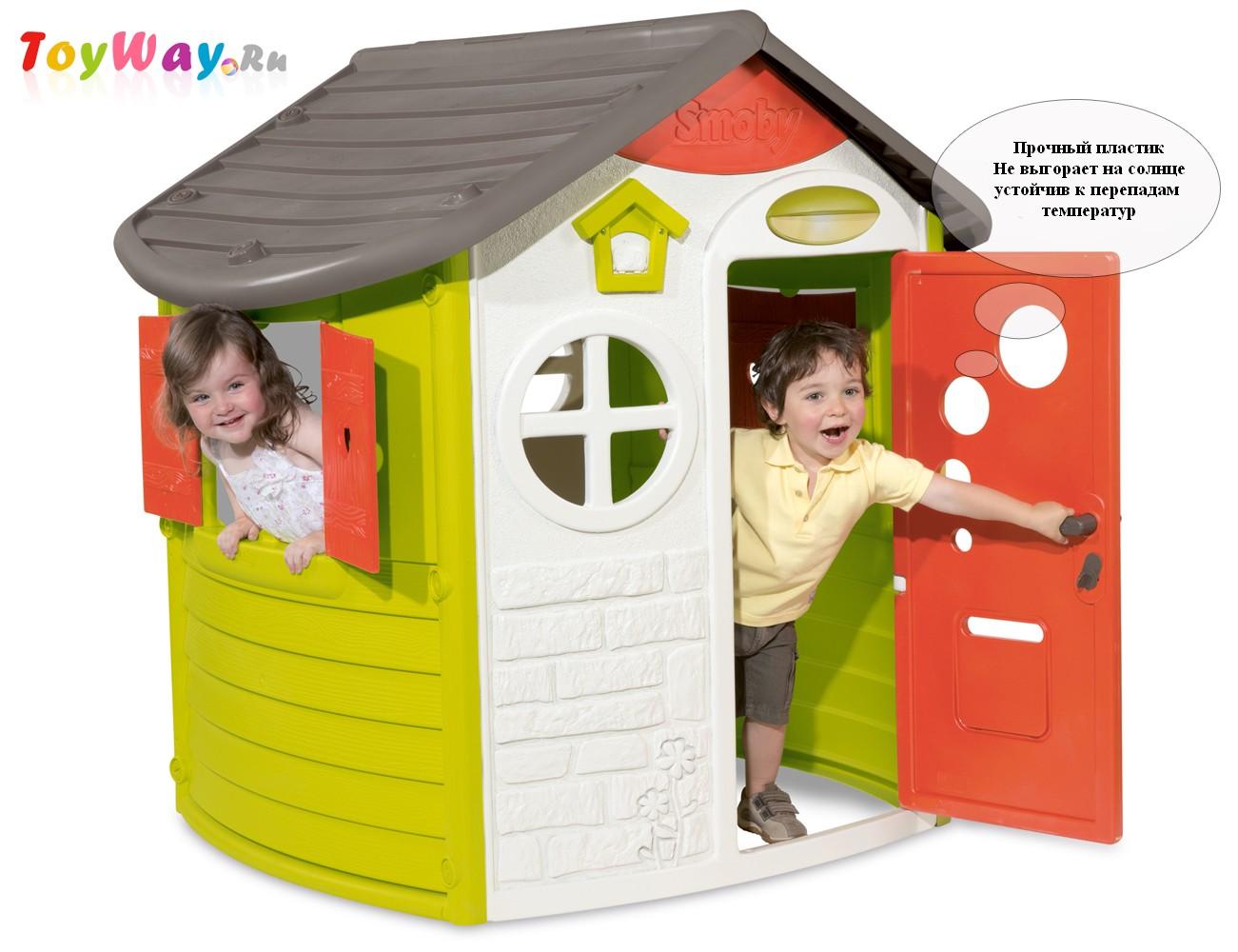 Домик Smoby Jura, 310263 - Пластиковые домики для дачи, артикул: 96508