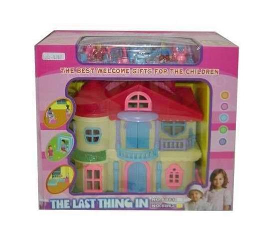 Купить Яркий домик для куклы, JUNFA TOYS