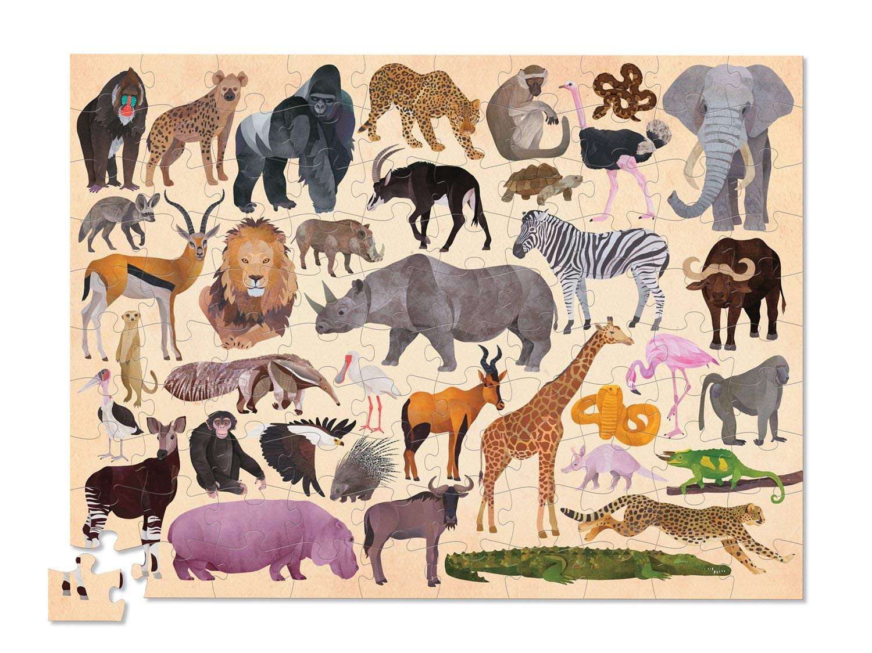 Купить Пазл – Дикие животные из серии 36 Животных, 100 деталей, Crocodile Creek