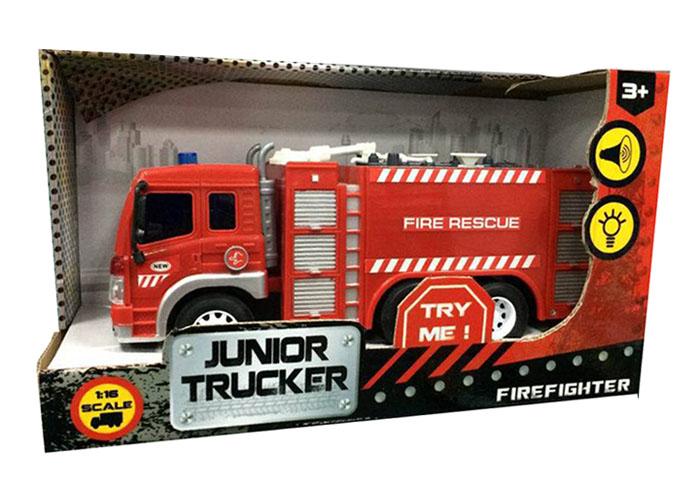 Пожарная машина, инерционная со световыми и звуковыми эффектамиПожарная техника, машины<br><br>