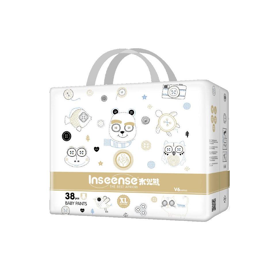Трусики-подгузники Inseense V6 , 38 штук, XL, золотая упаковка, супертонкие фото
