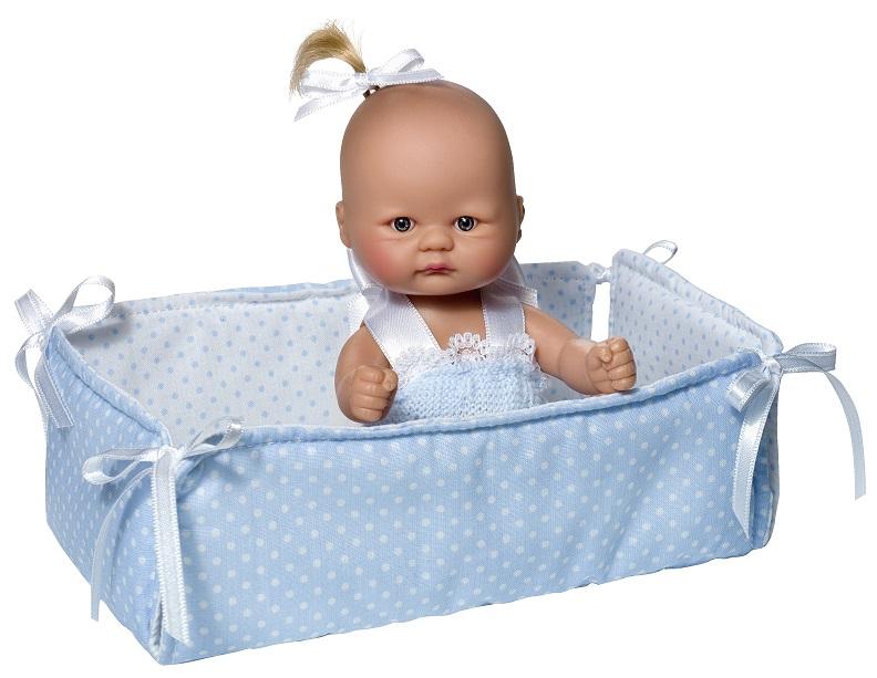 Кукла пупсик в голубом костюмчике, с манежем, 20 см.Куклы ASI (Испания)<br>Кукла пупсик в голубом костюмчике, с манежем, 20 см.<br>