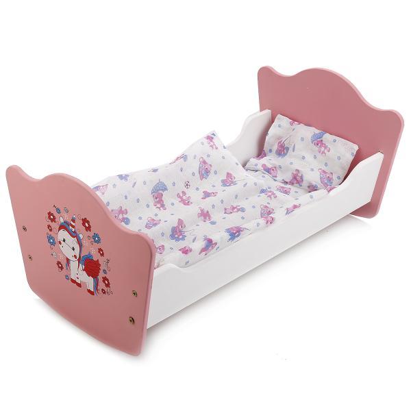 Кроватка для кукол - Милый пони, 52 см, с постельными принадлежностямиДетские кроватки для кукол<br>Кроватка для кукол - Милый пони, 52 см, с постельными принадлежностями<br>