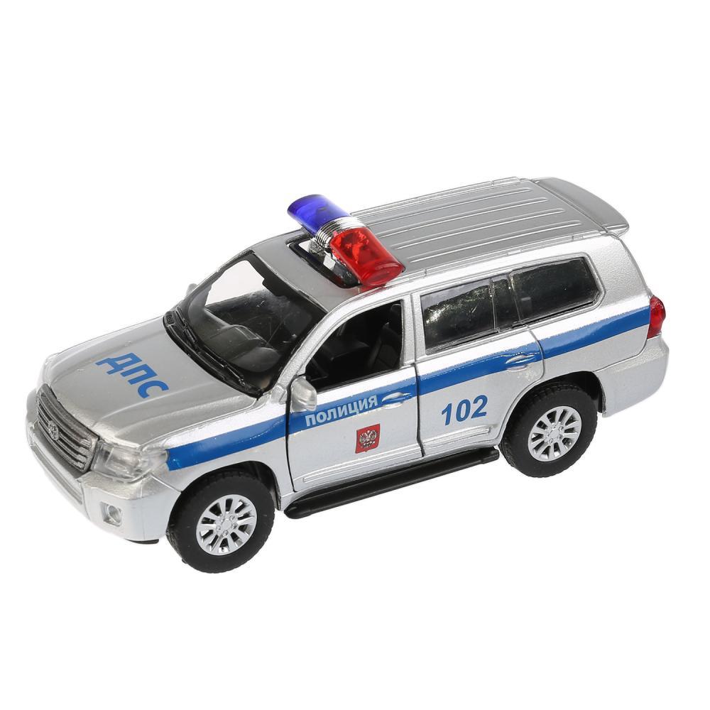 Купить Металлическая инерционная машина - Toyota Land Cruiser – Полиция, 12, 5 см, открываются двери, Технопарк