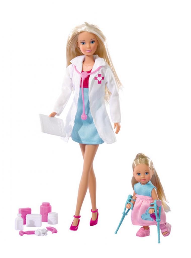 Кукла Штеффи-врач и Еви пациент по цене 1 390