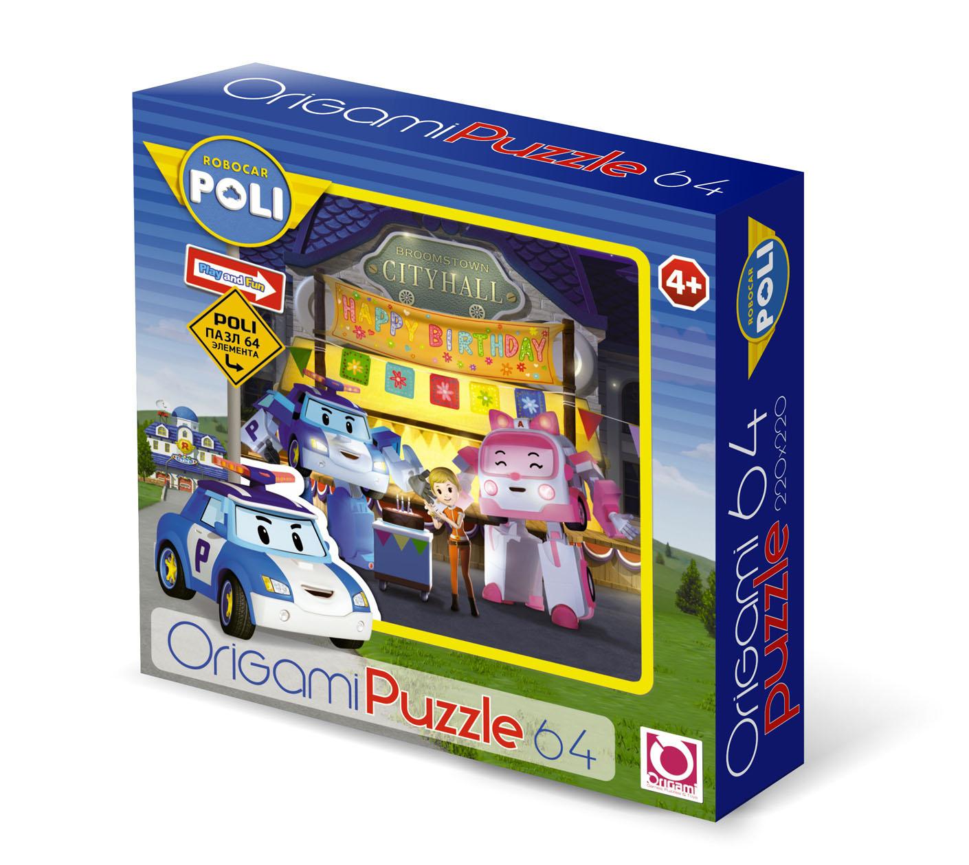 Паззл Robocar Poli 64 элемента.