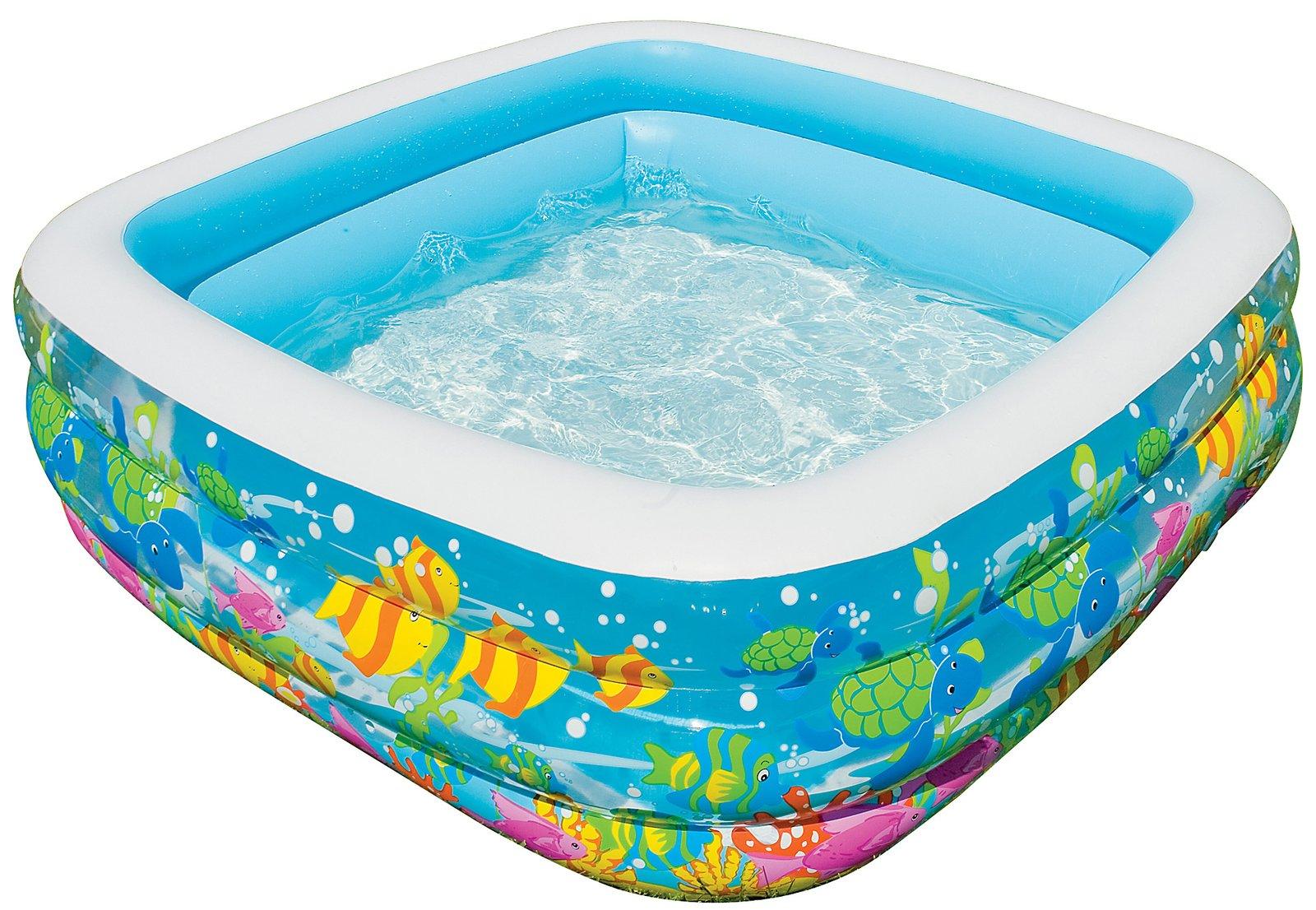 Бассейн надувной квадратный - АквариумДетские надувные бассейны<br>Бассейн надувной квадратный - Аквариум<br>