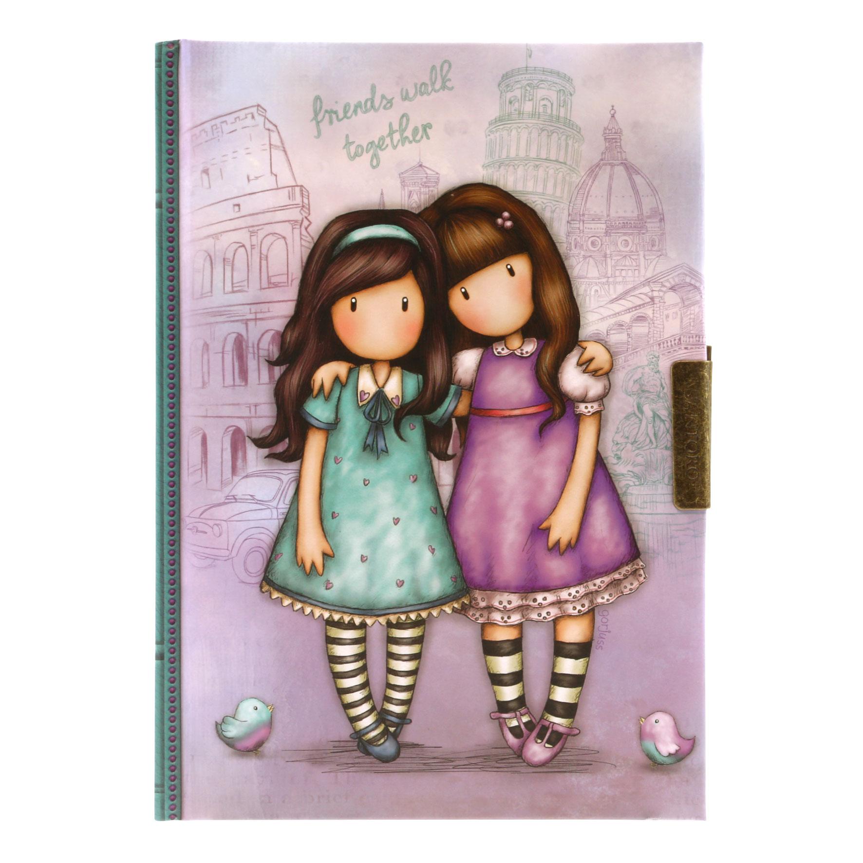 Купить Блокнот с замком - Friends Walk Together из серии Gorjuss, Santoro London