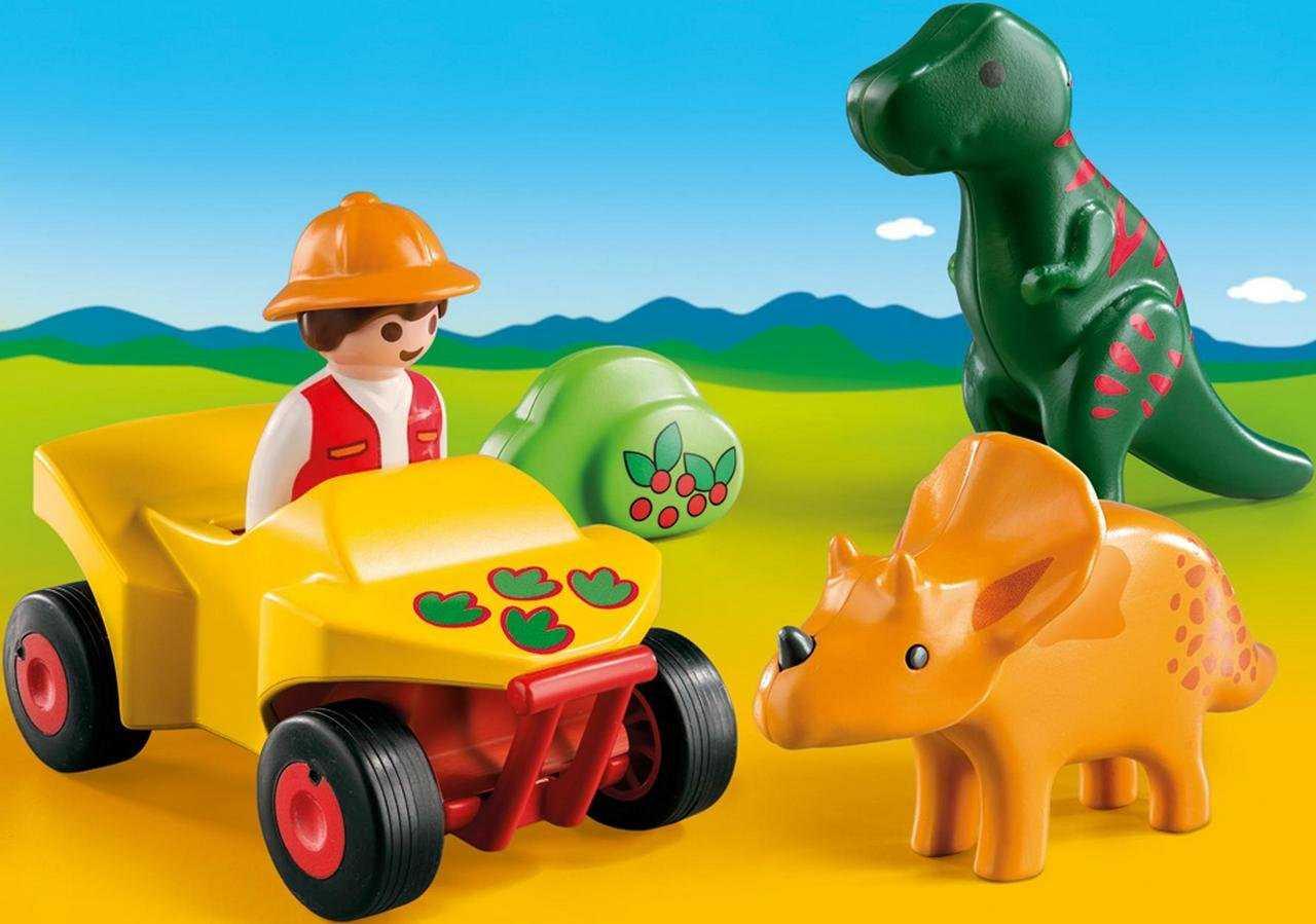 Купить Игровой набор – 1.2.3: Исследователь с динозаврами, Playmobil
