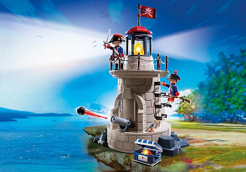 Игровой набор из серии «Пираты»  Военная башня с маяком - Конструкторы Playmobil, артикул: 134687