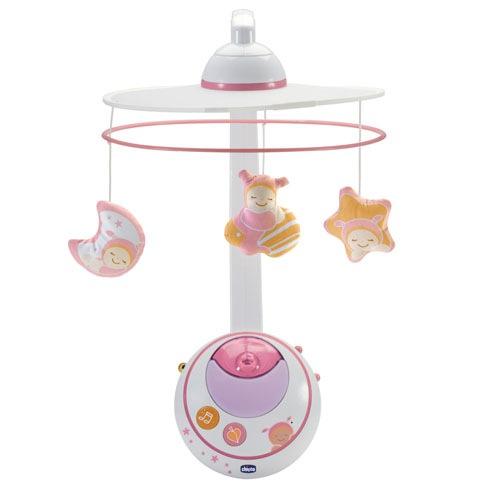 Подвеска-мобиль «Волшебные звезды», розовыйРазвивающие Игрушки Chicco<br>Подвеска-мобиль «Волшебные звезды», розовый<br>