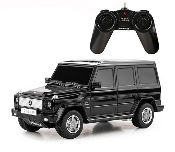 картинка Машина на р/у - Mercedes-Benz G55, 1:24, черный от магазина Bebikam.ru