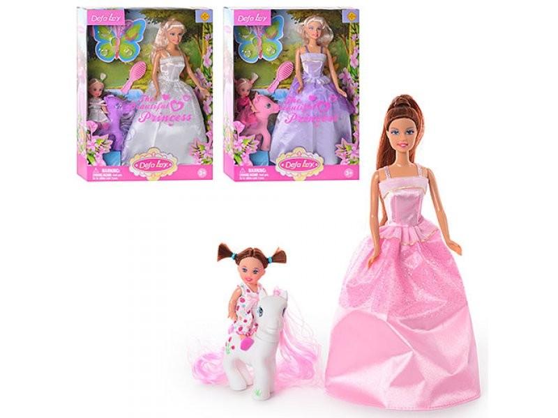 Набор из 2-х кукол Defa - Прекрасная принцесса, с пониКуклы Defa Lucy<br>Набор из 2-х кукол Defa - Прекрасная принцесса, с пони<br>