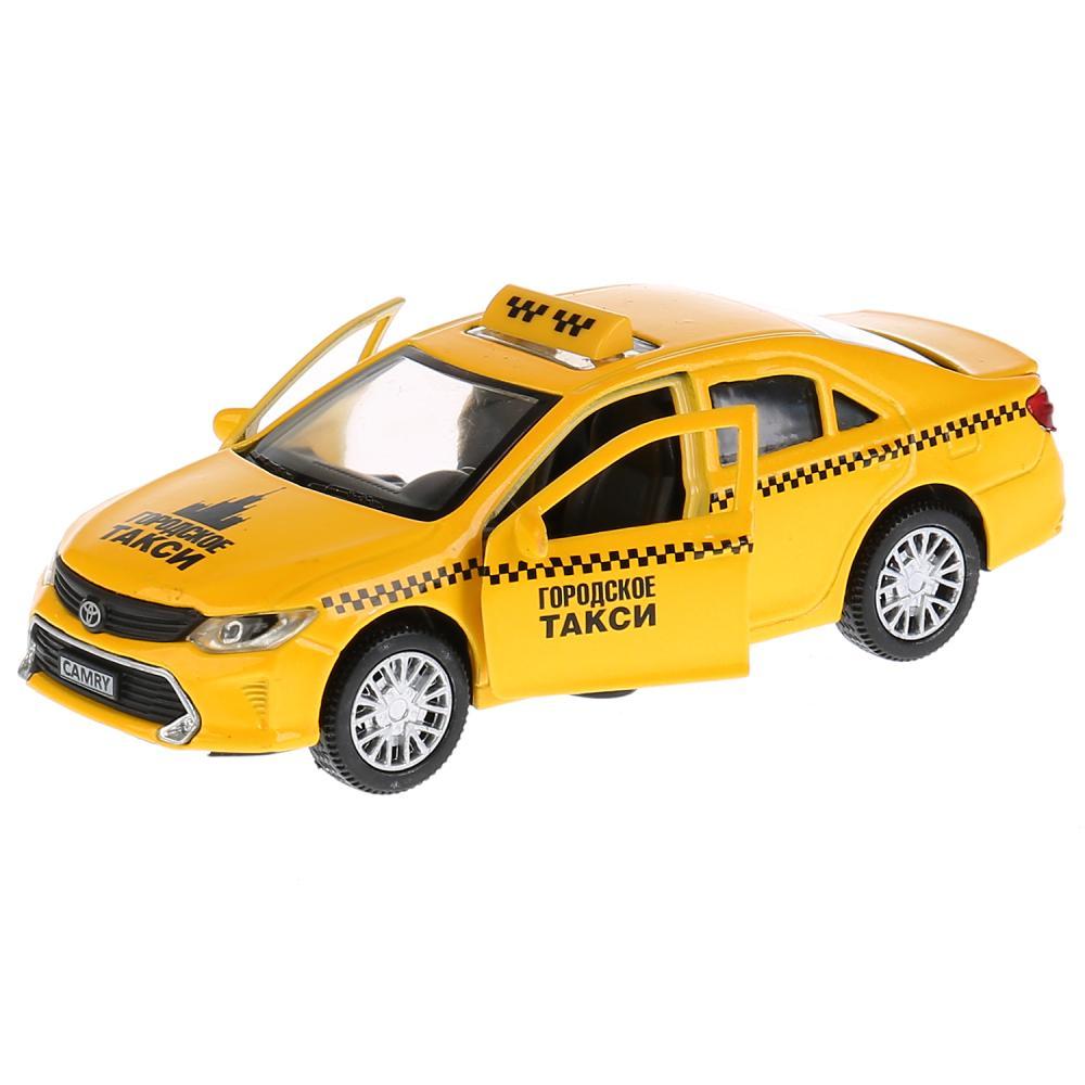 Купить Инерционная металлическая машина - Toyota Camry Такси, 12 см, Технопарк
