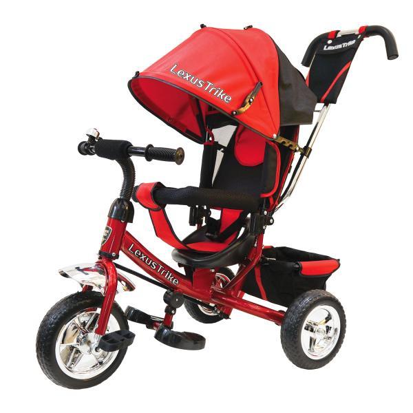 Купить Велосипед 3-х колесный с ручкой управления - Lexus Trike, красный, колеса EVA
