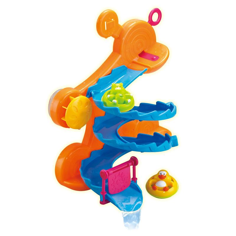 Горка для ванной, в наборе с аксессуарами, 2 вида - Веселое купаниеРазвивающие игрушки<br>Горка для ванной, в наборе с аксессуарами, 2 вида - Веселое купание<br>