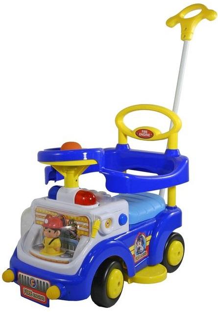 Синяя машина-каталка со световыми и звуковыми эффектами Fire EngineМашинки-каталки для детей<br>Синяя машина-каталка со световыми и звуковыми эффектами Fire Engine<br>