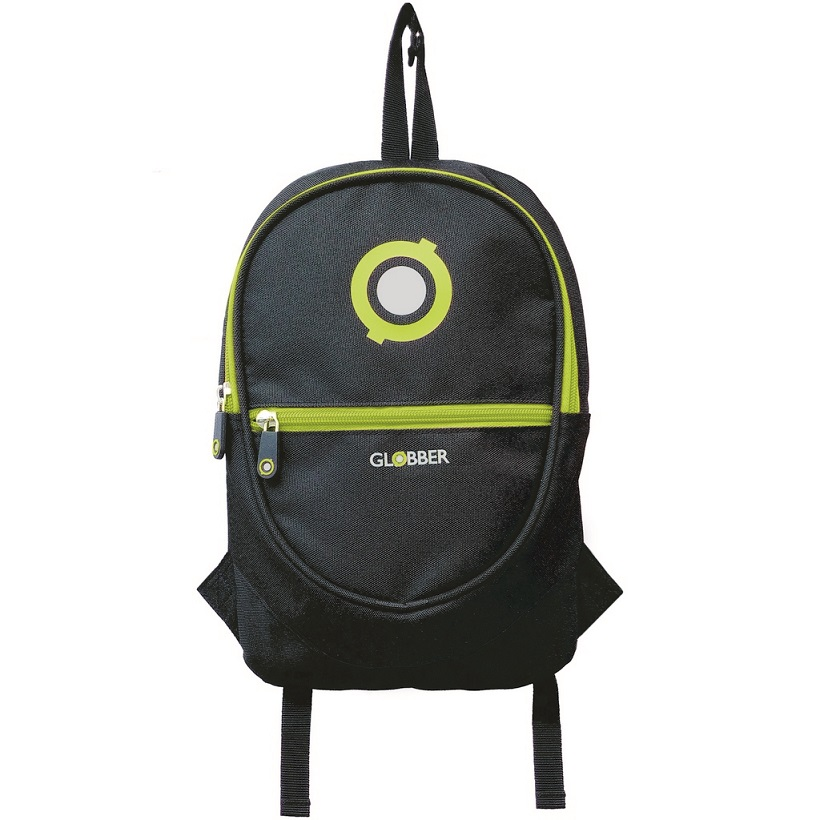 Рюкзак Globber 524-136 для самокатов Junior, цвет - Black/Lime Green