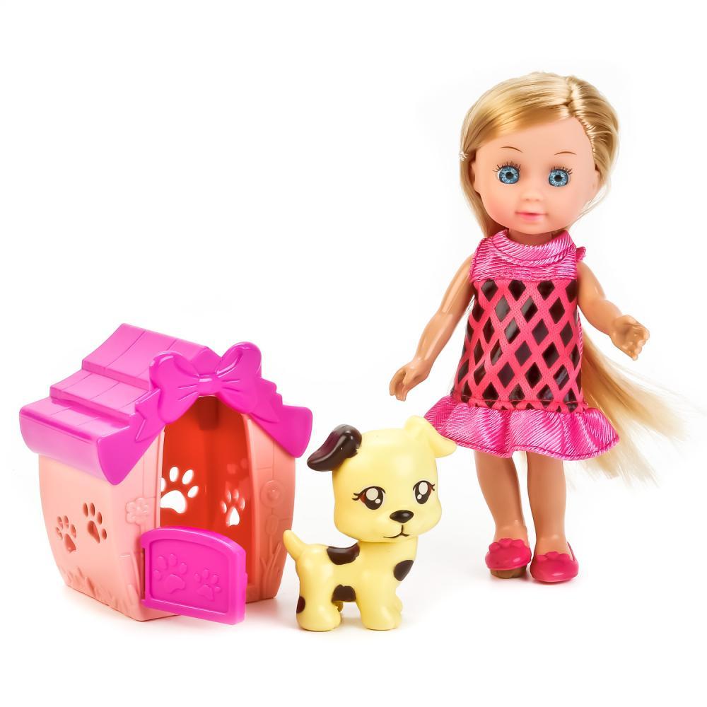 Купить Кукла с аксессуарами Hello Kitty – Машенька с питомцем и домиком, 15 см, Карапуз