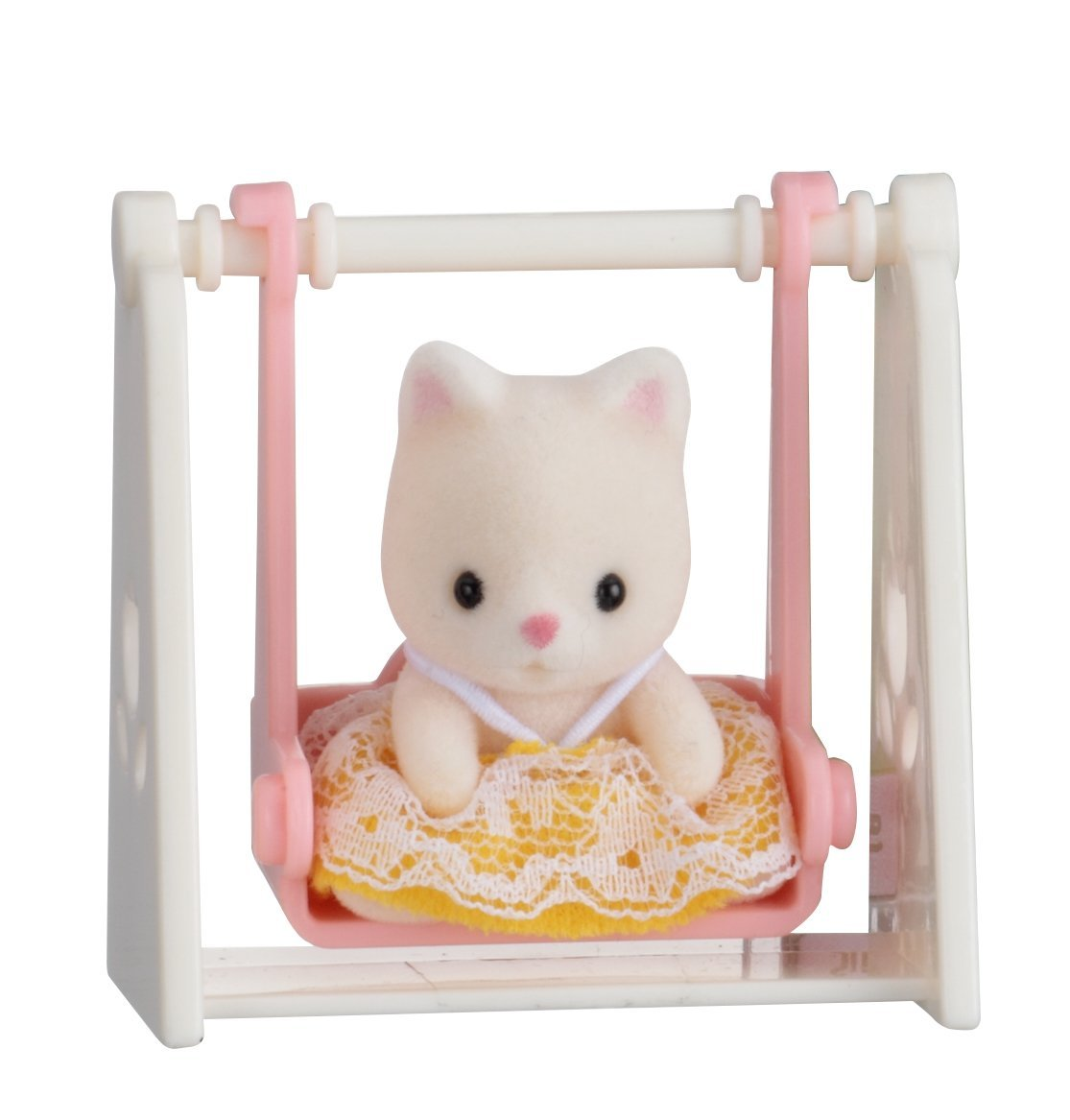 Купить Sylvanian Families. Младенец в пластиковом сундучке - Кошка на качелях, Epoch