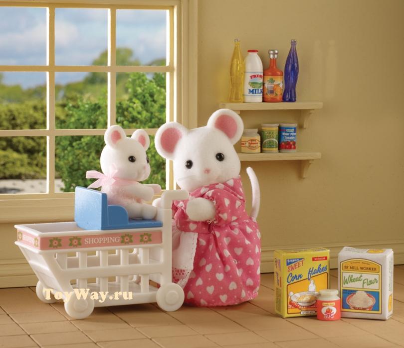 Sylvanian Families - Покупки в бакалееПокупки и Продукты<br>Sylvanian Families - Покупки в бакалее<br>