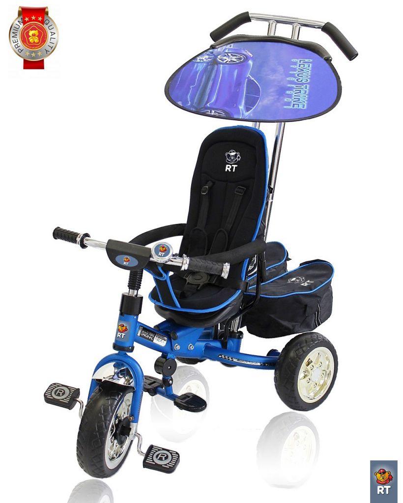 3-х колесный велосипед Lexus Trike original RT Next Deluxe, с высокой спинкой, синий - Велосипеды детские, артикул: 158660