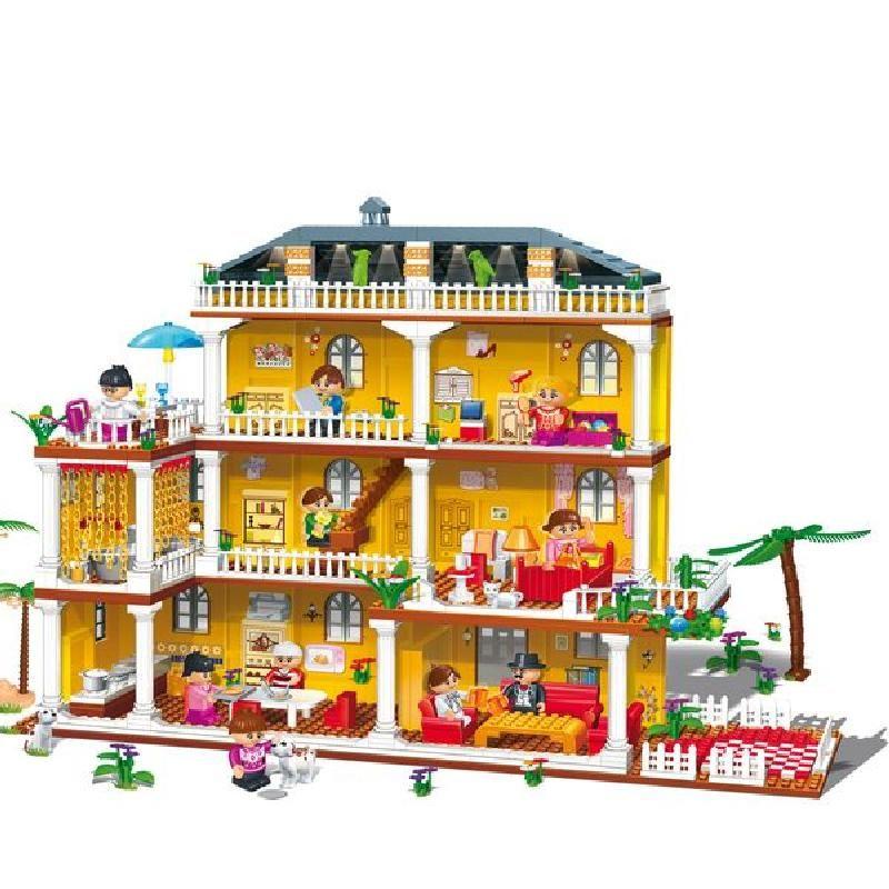Купить Конструктор - Домик для куклы с аксессуарами, BanBao