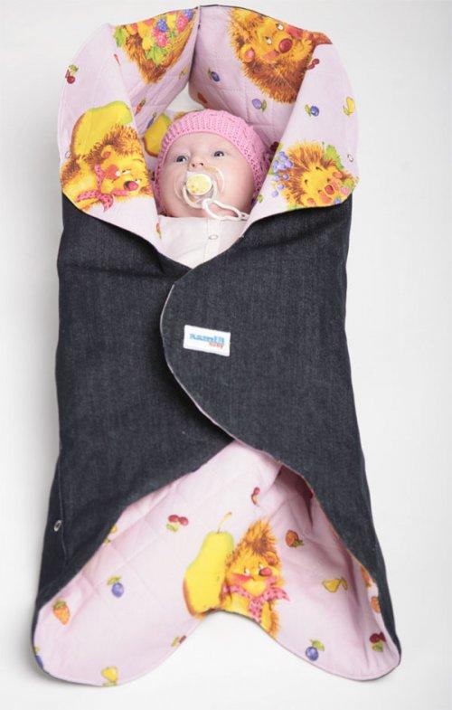 Конверт для новорожденного Ramili Denim Style Pink  - купить со скидкой