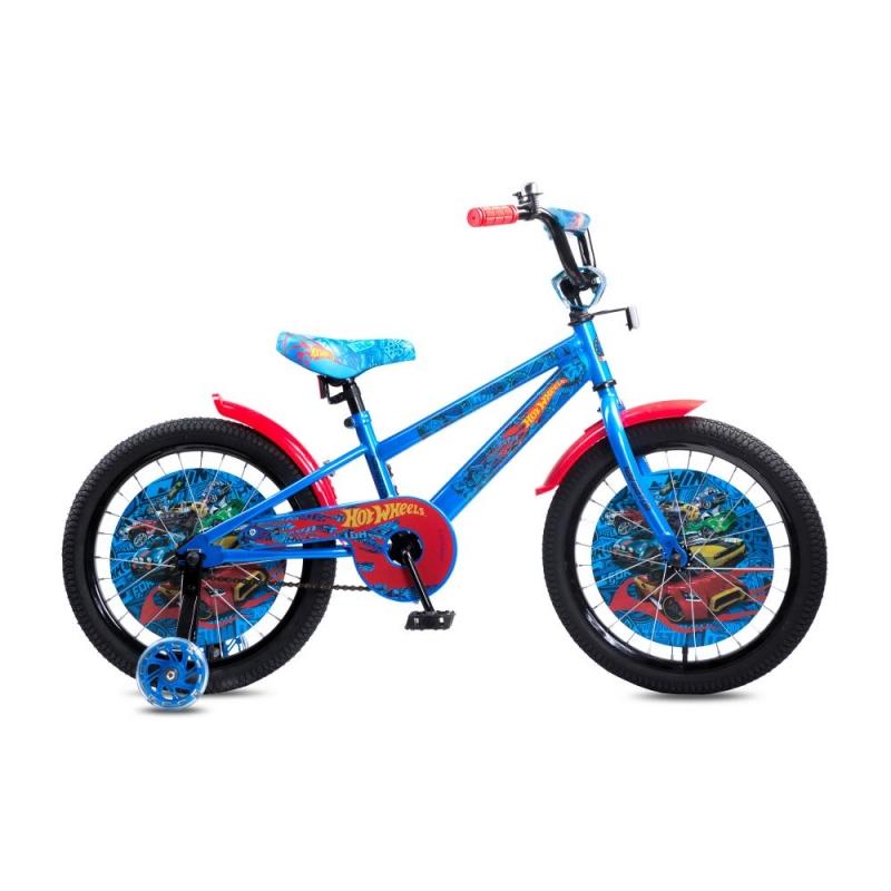 Купить Детский велосипед Navigator серии Hot Wheels, колеса 18 , стальная рама, стальные обода, ножной тормоз