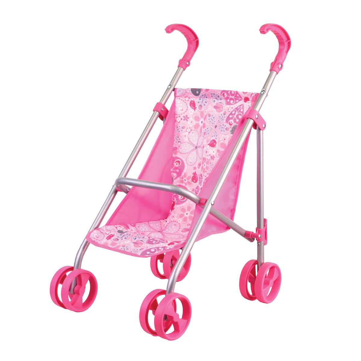 Коляска прогулочная розовая, классическаяКоляски для кукол<br>Коляска прогулочная розовая, классическая<br>