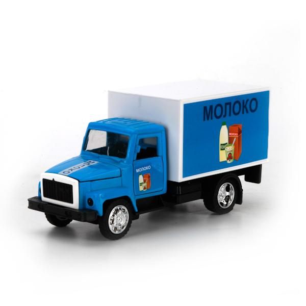 Машина металлическая инерционная - ГАЗ 3307 – Молоко, со светом и звукомГородская техника<br>Машина металлическая инерционная - ГАЗ 3307 – Молоко, со светом и звуком<br>