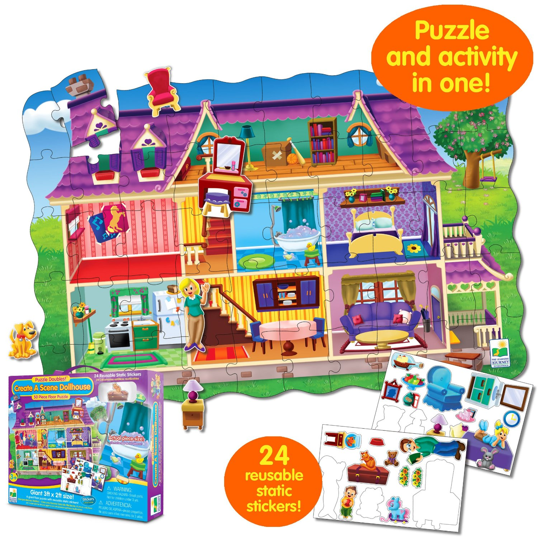 Пазл «Кукольный дом» с многоразовыми наклейкамиПазлы для малышей<br>Пазл «Кукольный дом» с многоразовыми наклейками<br>