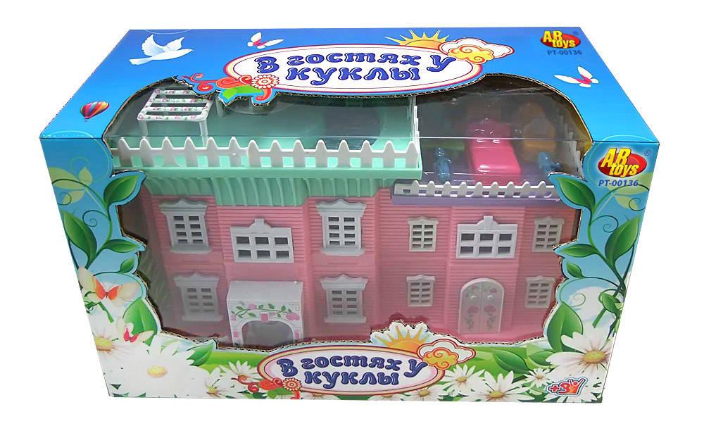 Игровой набор с аксессуарами Домик в гостях у куклы - Кукольные домики, артикул: 63399