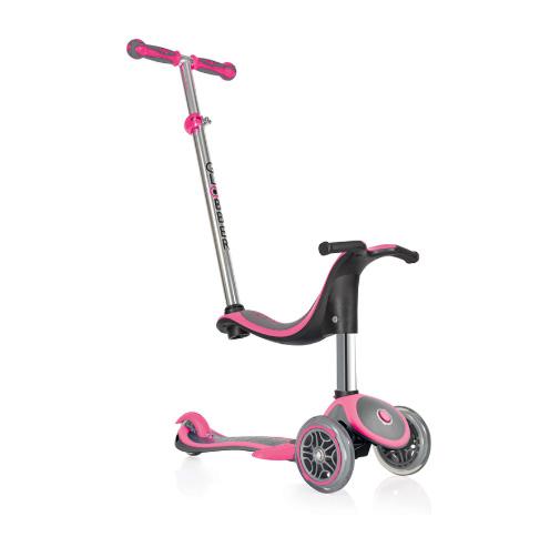 Купить Самокат Globber Evo 4 in 1 Plus с подножкой, розовый