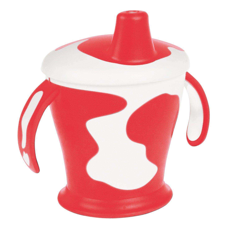 Чашка-непроливайка с ручками - Little cow, 250 мл, 9+, красный