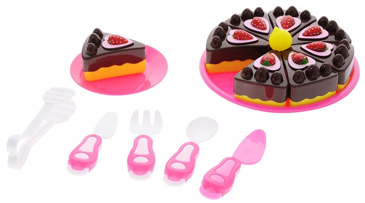 Тортик в наборе с посудой «Помогаю Маме. Маленький кондитер»Аксессуары и техника для детской кухни<br>Тортик в наборе с посудой «Помогаю Маме. Маленький кондитер»<br>