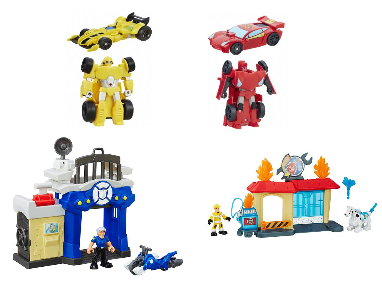 Набор Hasbro Playskool Heroes - Трансформеры Спасатели: гоночные машины + спасателиИгрушки трансформеры<br>Набор Hasbro Playskool Heroes - Трансформеры Спасатели: гоночные машины + спасатели<br>