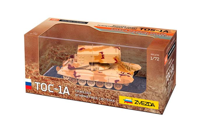 Модель сборная - Танк Тяжёлая огнемётная система ТОС-1АМодели танков для склеивания<br>Модель сборная - Танк Тяжёлая огнемётная система ТОС-1А<br>