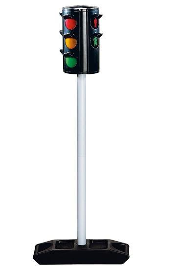 Большой светофор на стойке, высотой 71 см. - Знаки дорожного движения, светофоры, артикул: 7777