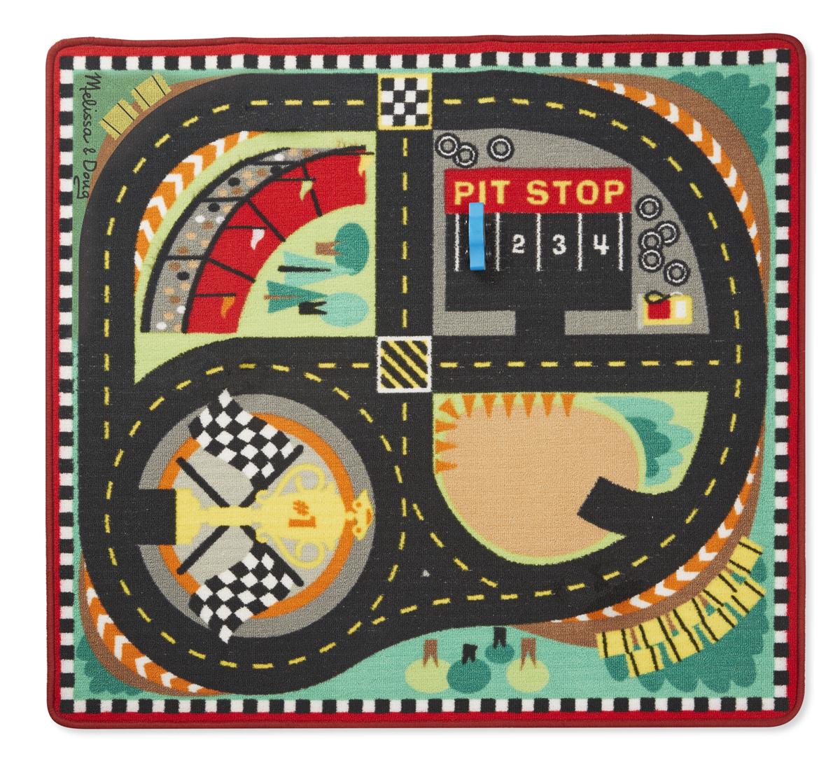 Напольный коврик - Трасса для гонок с машинками по цене 2 565
