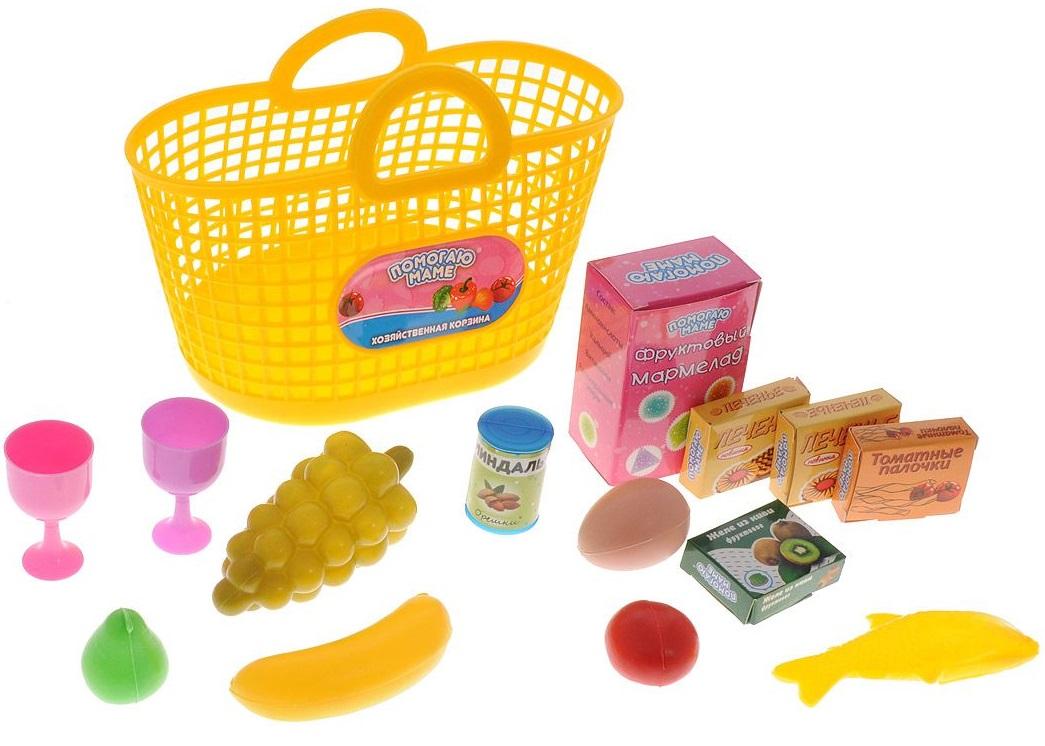 Помогаю Маме. Набор продуктов в корзине, 13 предметовАксессуары и техника для детской кухни<br>Помогаю Маме. Набор продуктов в корзине, 13 предметов<br>
