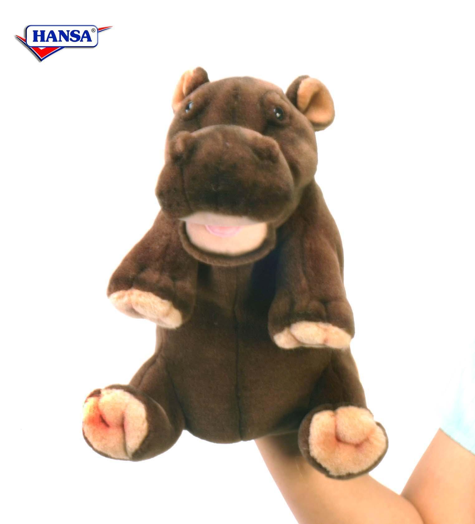 Купить Игрушка на руку - Гиппопотам, 24 см, Hansa