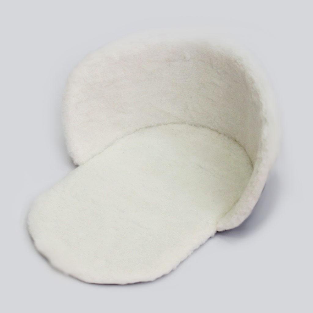Утеплитель меховой для санок, овчина, белый