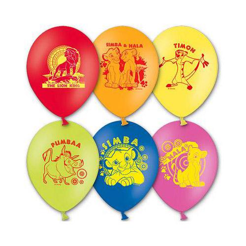Набор шаров - Disney Король Лев, 5 шт. по 30 см.Воздушные шары<br>Набор шаров - Disney Король Лев, 5 шт. по 30 см.<br>