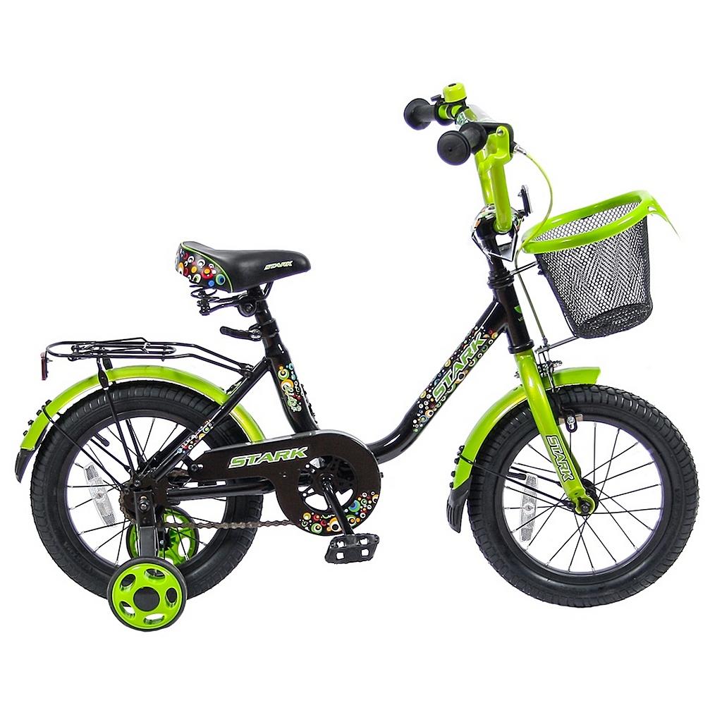 Двухколесный велосипед Lider shark, диаметр колес 14 дюймов, черный/зеленыйВелосипеды детские<br>Двухколесный велосипед Lider shark, диаметр колес 14 дюймов, черный/зеленый<br>