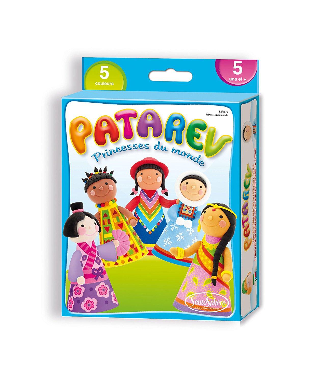 Купить Набор пластилина для детской лепки, 5 баночек и 6 бумажных нарядов, SentoSpherE