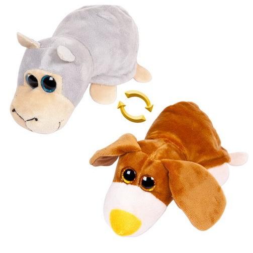 Игрушка мягкая перевертыш - Овечка/Собака, 16 см.Животные<br>Игрушка мягкая перевертыш - Овечка/Собака, 16 см.<br>