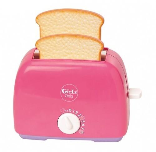 Розовый игрушечный тостерАксессуары и техника для детской кухни<br>Розовый игрушечный тостер<br>