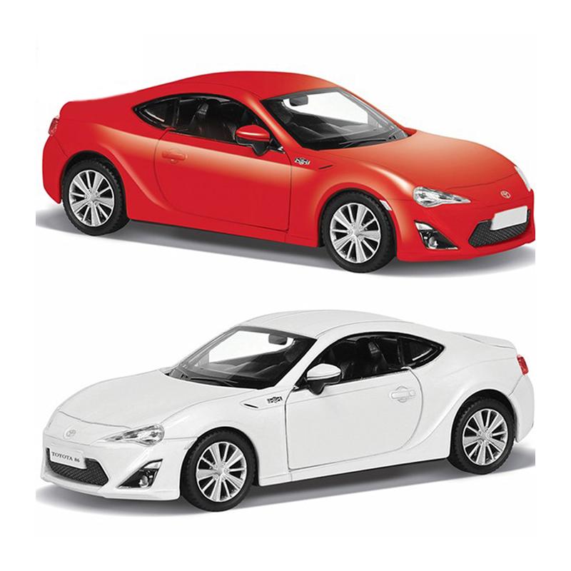 Купить Машина металлическая Toyota 86, 1:64, 2 цвета – белый или красный, RMZ City